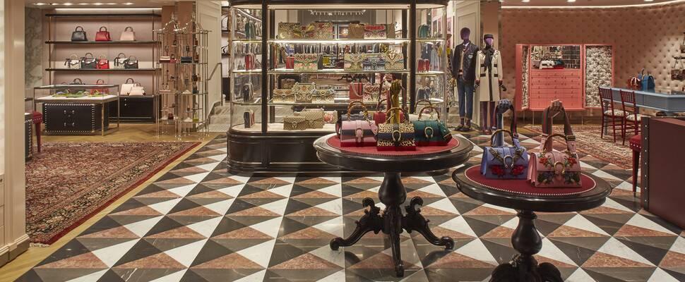 A 'new look' Gucci interior in a store in Melbourne, Australia. Photo: Gucci.com