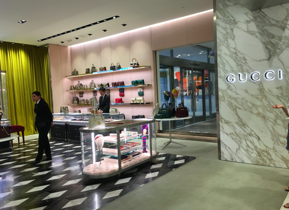 Gucci operates a busy concession at Nordstrom at CF Toronto Eaton Centre. Photo: Craig Patterson