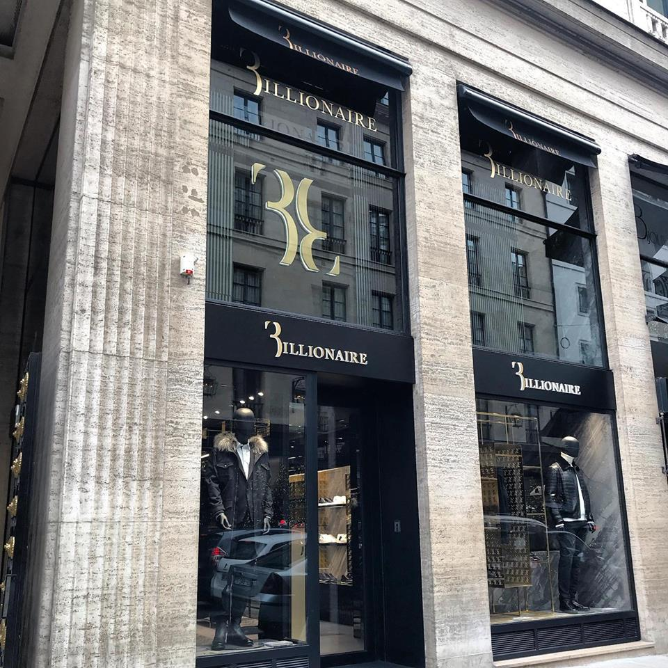 billionaire's Paris, France store photo: billionaire couture via facebook
