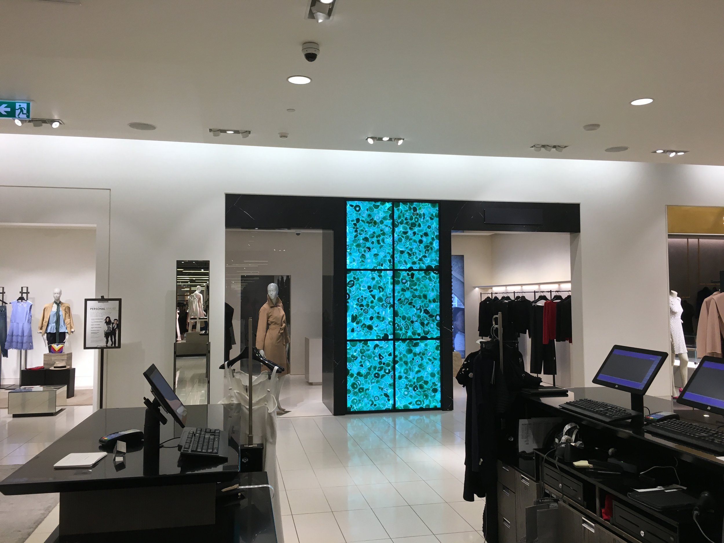 Loewe 'hard shop' on the 3rd floor of Nordstrom's cf Toronto Eaton Centre flagship, which no longer carries Loewe fashions. The space to the left was once a Lanvin boutique. Photo: CRAIG PATTERSON