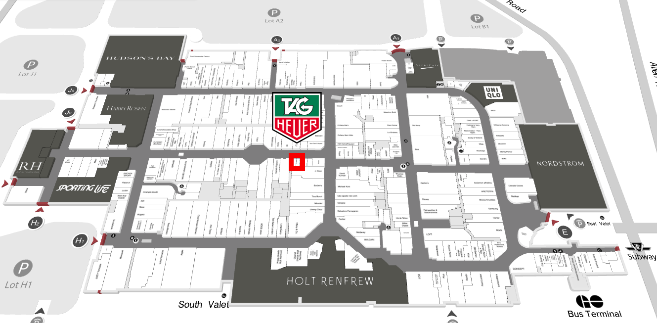 Click Image for interactive Yorkdale Mall Map