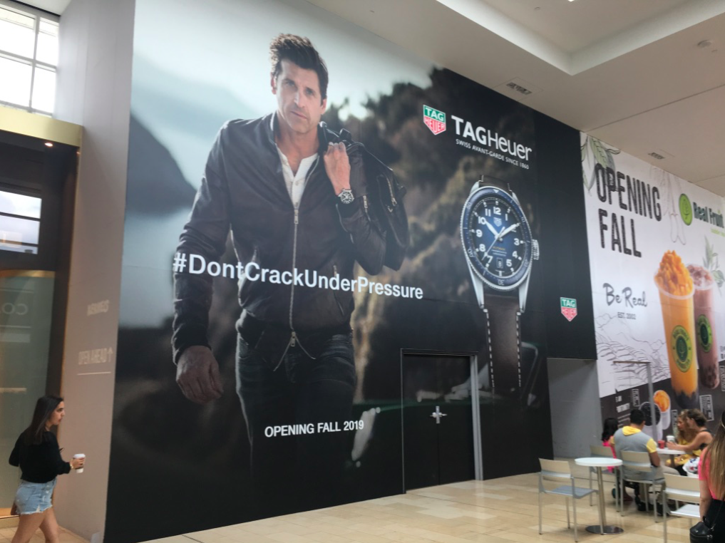 Construction hoarding at Yorkdale Shopping Centre in Toronto. Photo: Craig Patterson