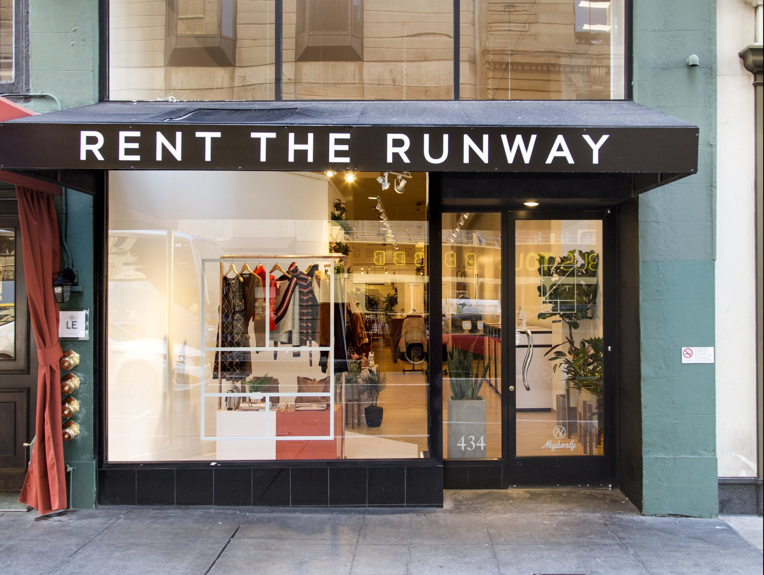 Rent the Runway at 434 Post Street in San Francisco. Photo: Miha Matei Photography
