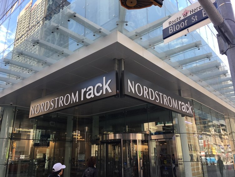 Above and below: Nordstrom Rack at 1 Bloor St. E. in Toronto. Photo: Craig Patterson