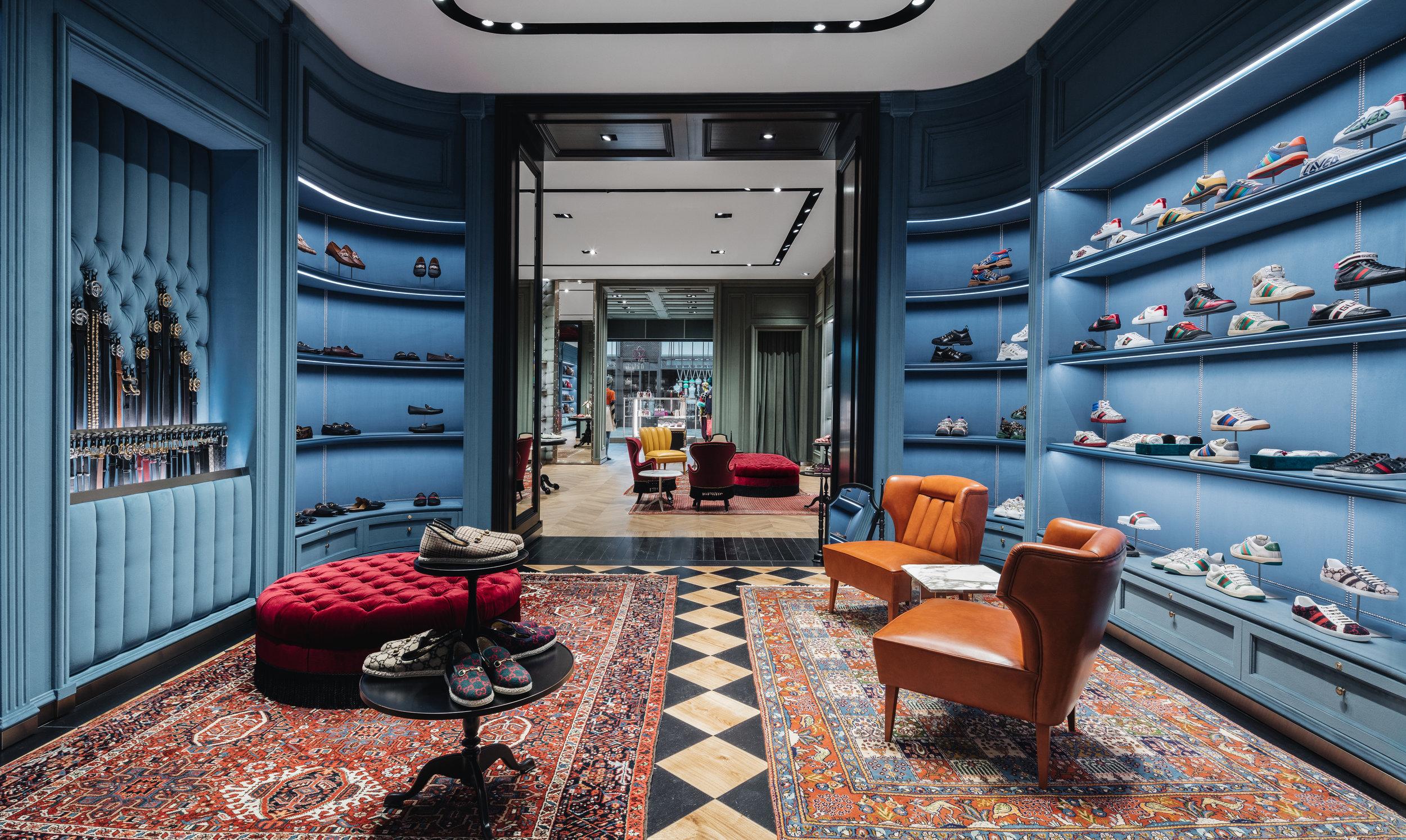 Men's shoe salon. Photo: Gucci