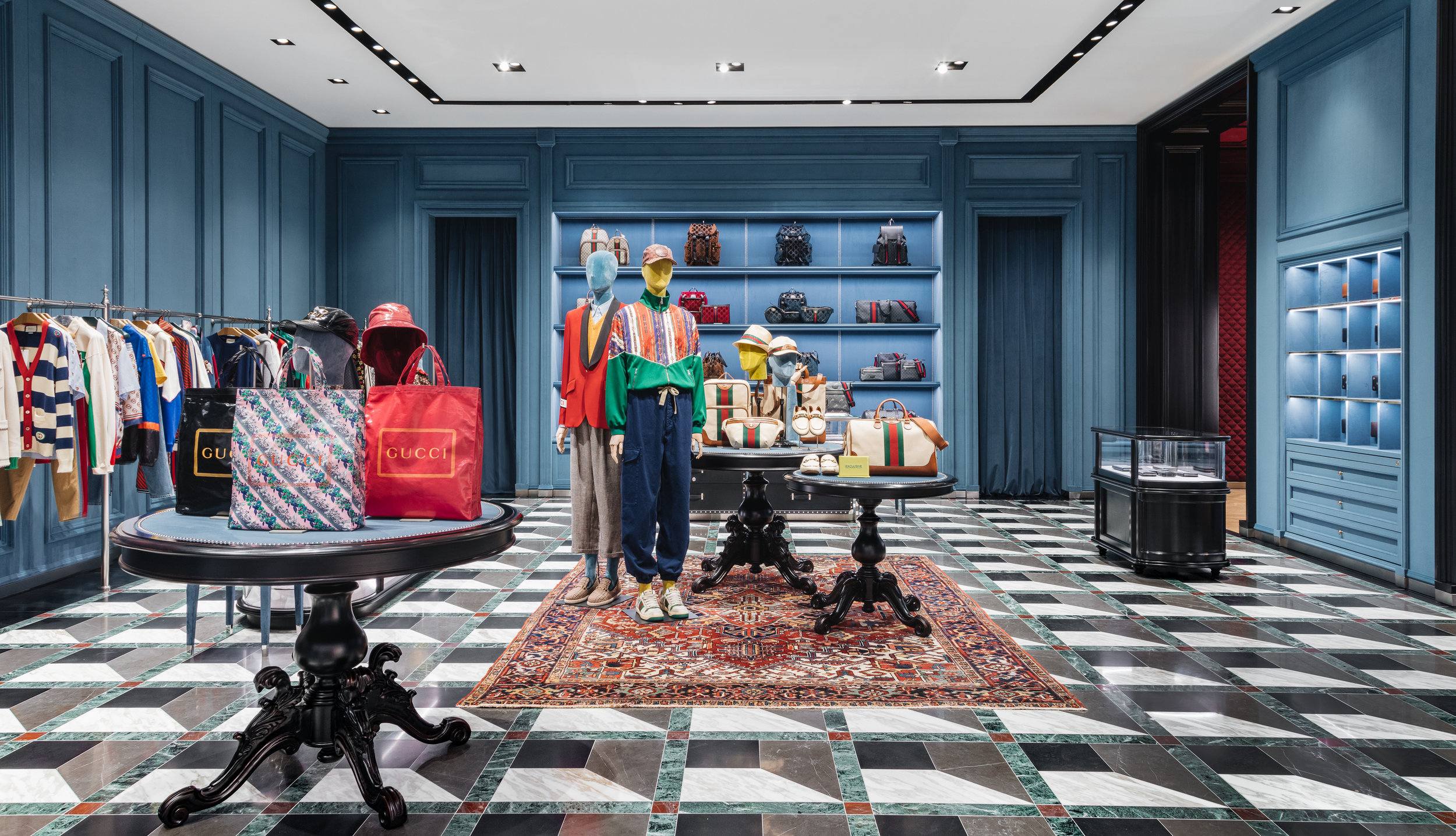 Men's section, photo taken from entryway into Holt Renfrew. Photo: Gucci