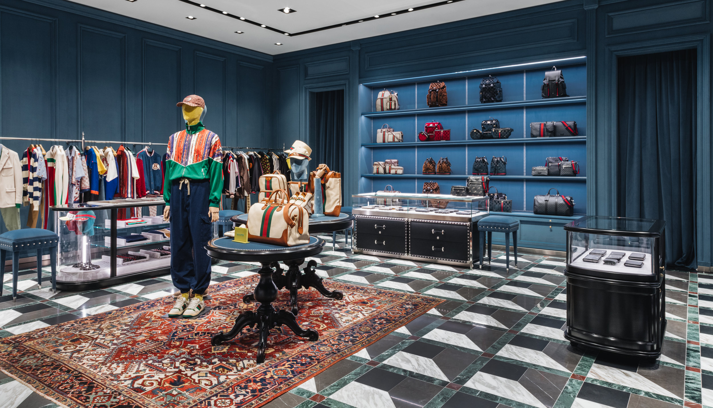 Another shot of the Men's section. Photo: Gucci