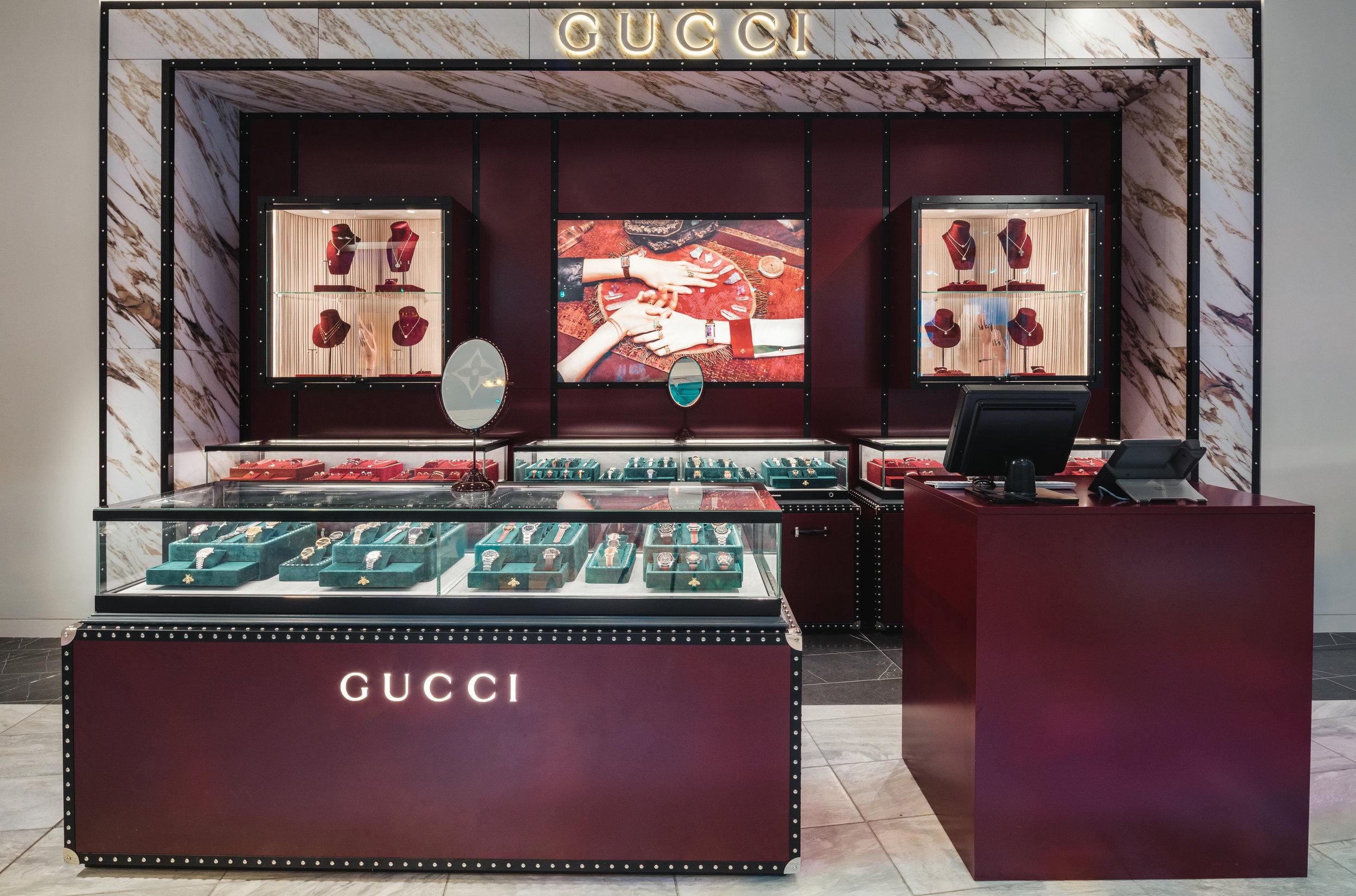 Jewellery area. Photo: Gucci