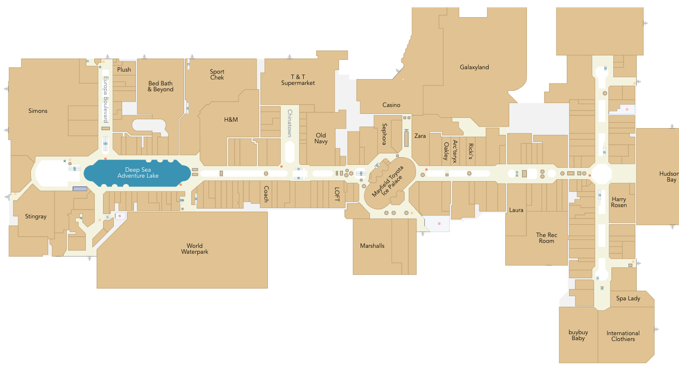 Click image for interactive West Edmonton Mall Floor plan
