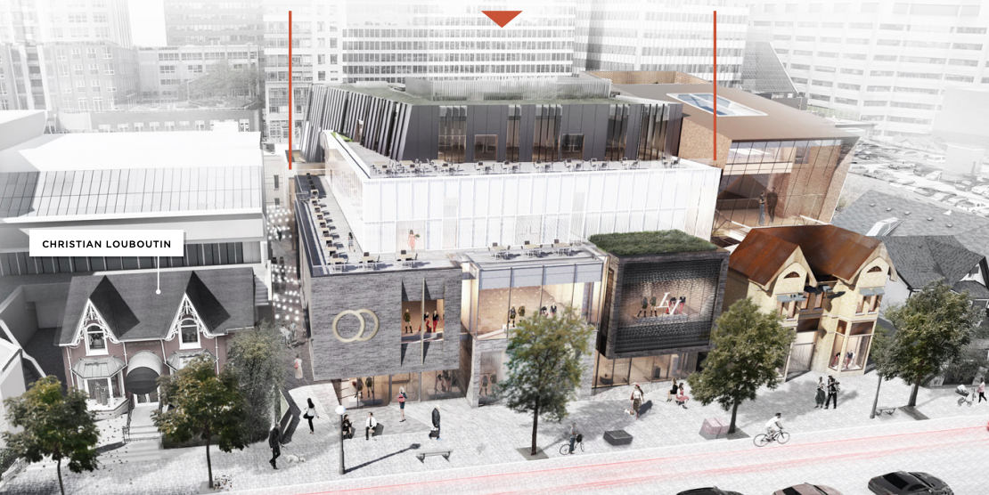 Rendering of Yorkville Avenue Developments, via First Capital Realty