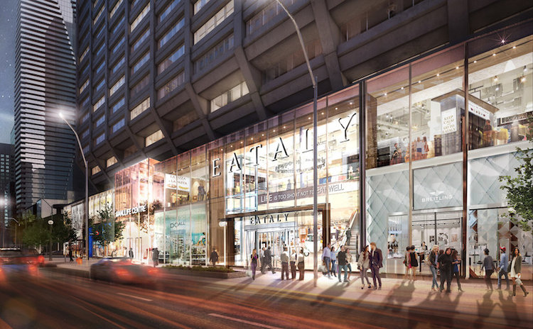Rendering of the future Bloor Street Eataly. Image via Beaughleigh
