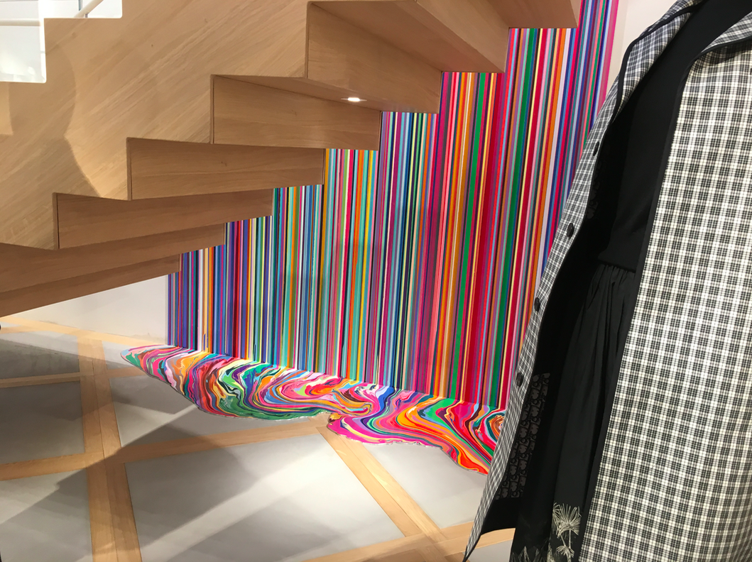 commissioned work by artist Ian Davenport. Photo: Retail Insider
