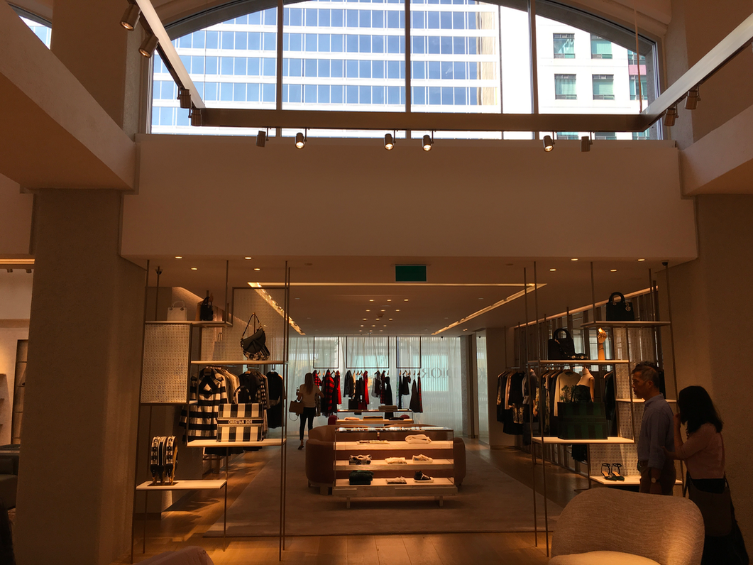 Looking into the women's ready-to-wear room, with a large shopping suite soon to open to the left.