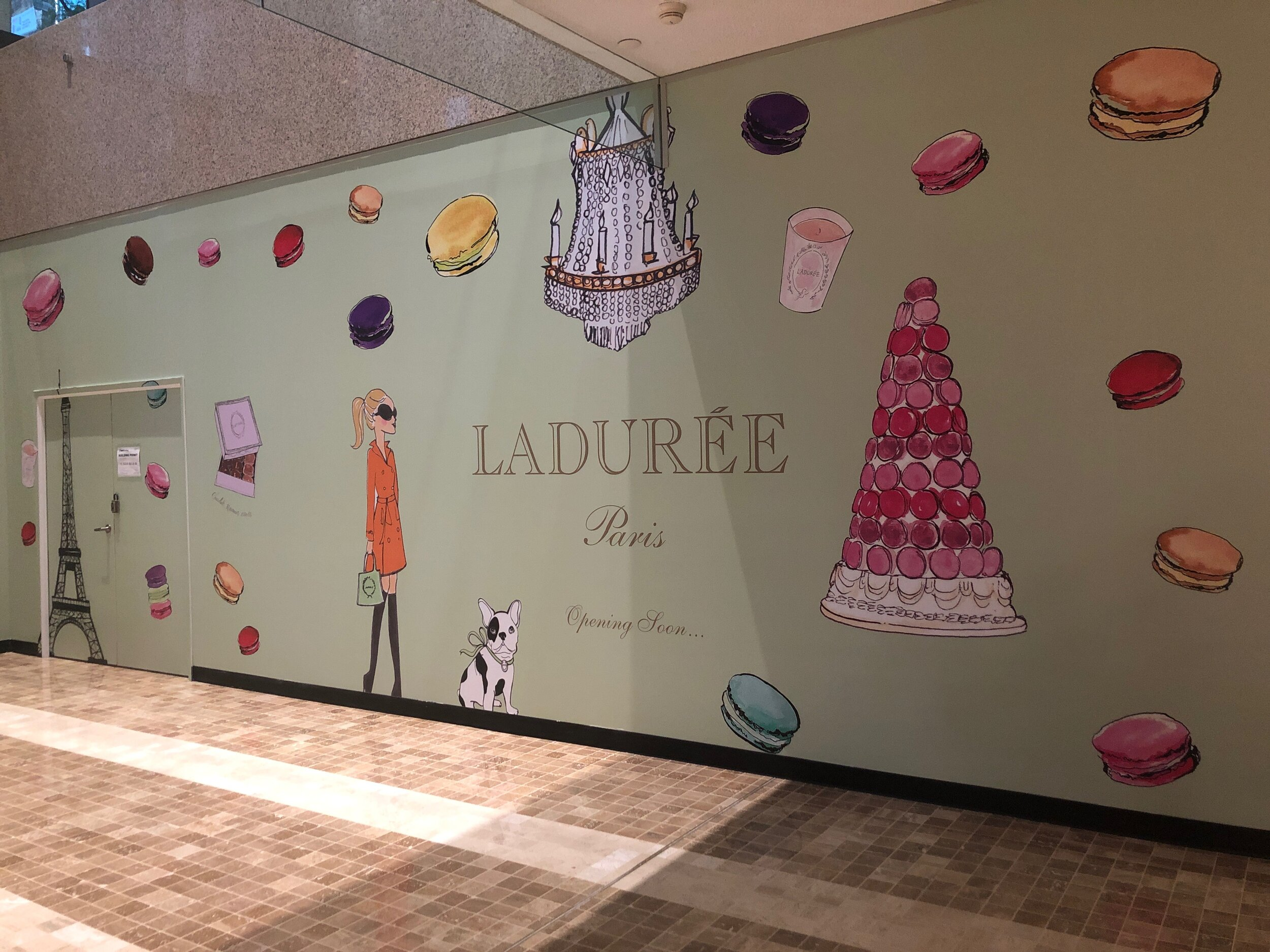 Construction hoarding at the Exchange Tower in Toronto's Financial District. Photo: Ladurée