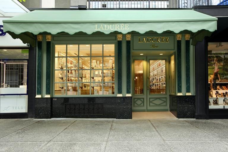 Ladurée's first Canadian location on Robson Street in Vancouver. PHoto: Ladurée