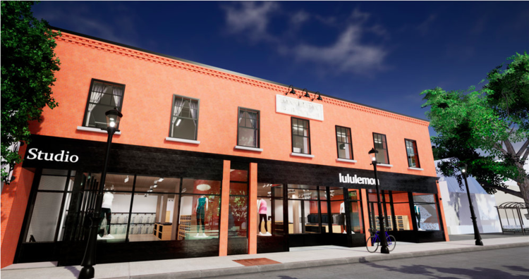 BARRY'S BOOTCAMP WILL SHARE SPACE WITH LULULEMON IN THE HISTORIC 'BANNERMAN BLOCK' IN CALGARY. RENDERING: CERTUS DEVELOPMENTS
