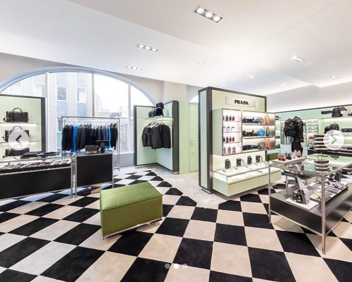 Fourth-floor men's Prada boutique . Photo: Holt Renfrew Ogilvy via Instagram