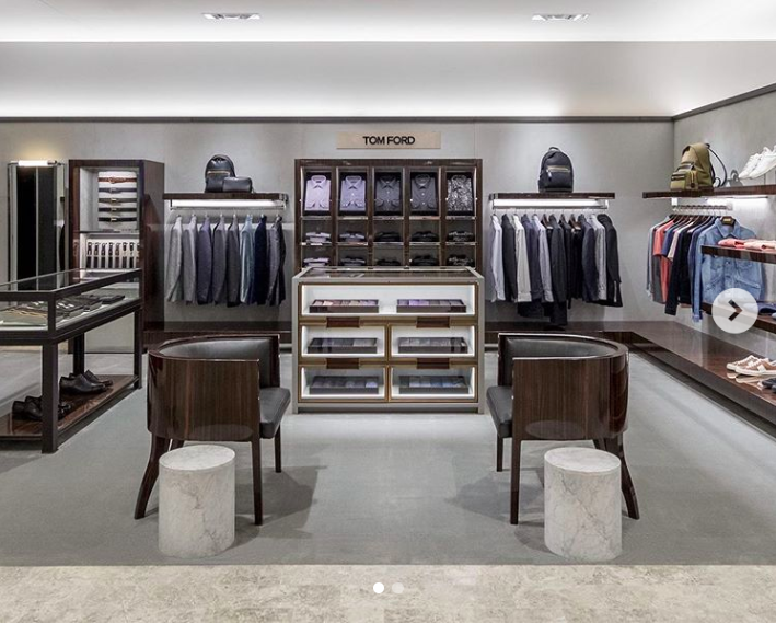 Fourth-floor men's Tom Ford boutique . Photo: Holt Renfrew Ogilvy via Instagram
