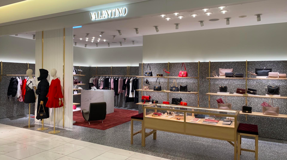 photo: lee rivett (Valentino Boutique on the main level of Holt Renfrew in Vancouver.)
