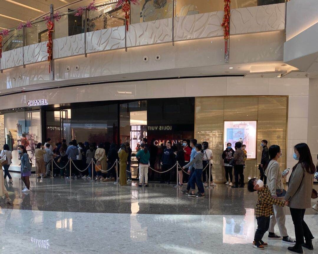 IFC Mall in shanghai on March 21, 2020. photo: Savills China