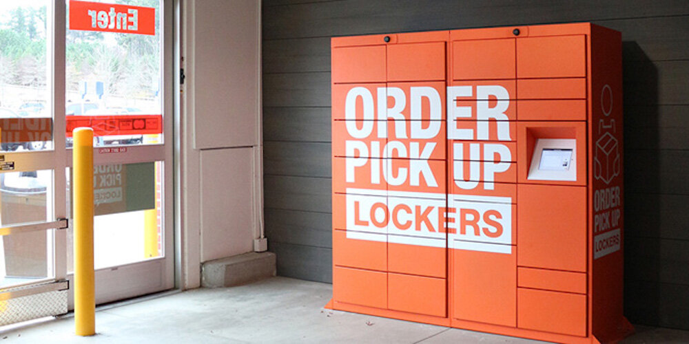 smark lockers at home depot. photo: retailwire