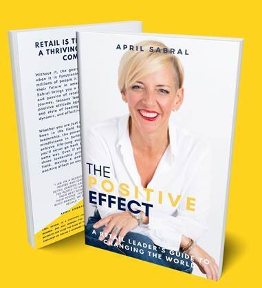 april sabral on the cover of her upcoming book 'the positive effect'