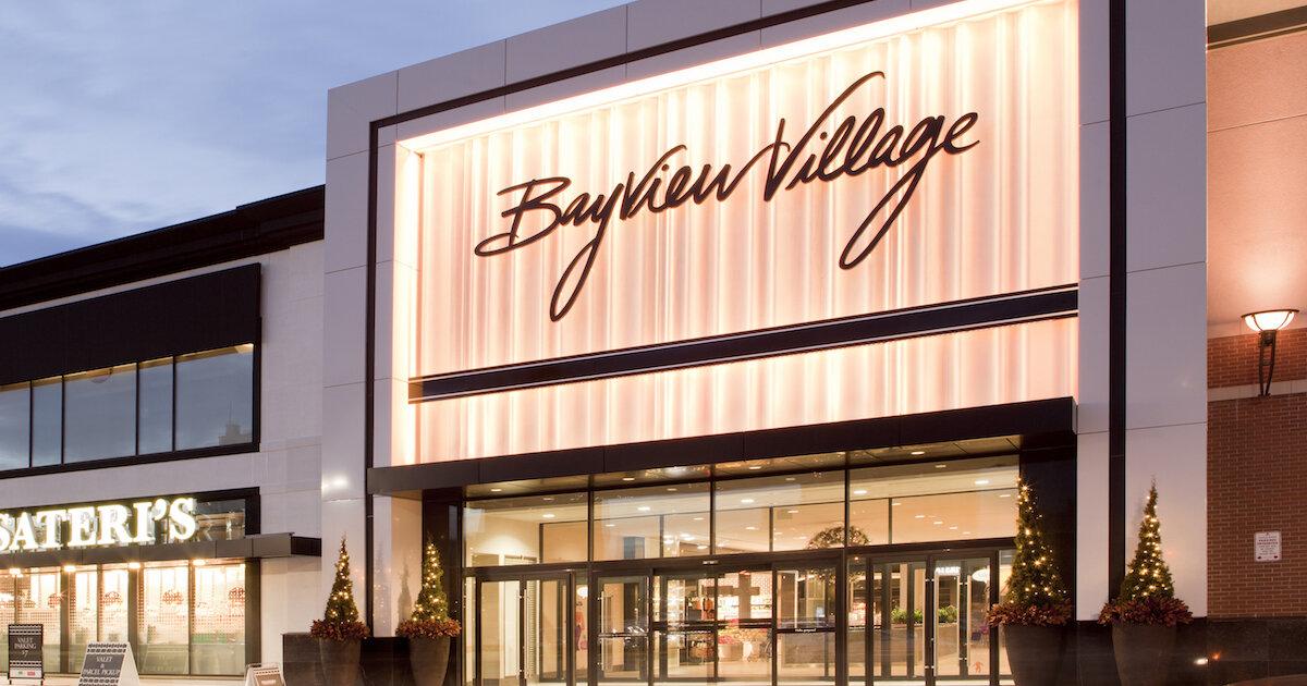 facade of bayview village shopping centre. photo: bayview village