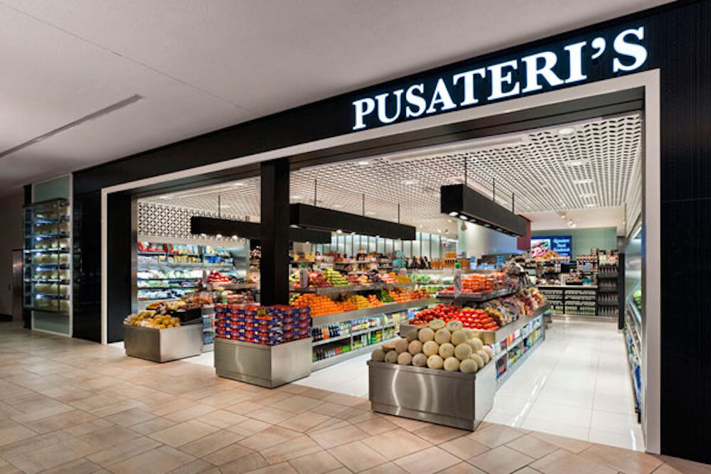 exterior of pusateri's fine foods at bayview village. photo: pusateri's