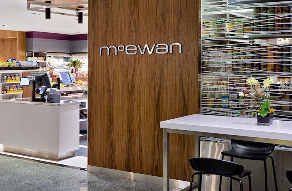 facade of mcewan fine foods. photo: mcewan fine foods