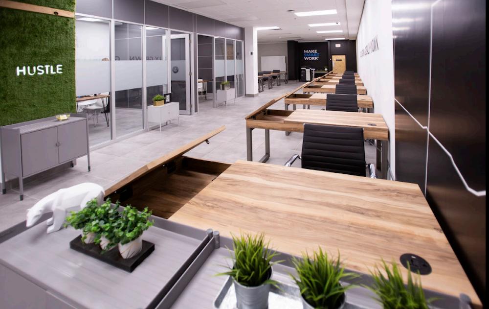 interior of lauft coworking space. photo: lauft