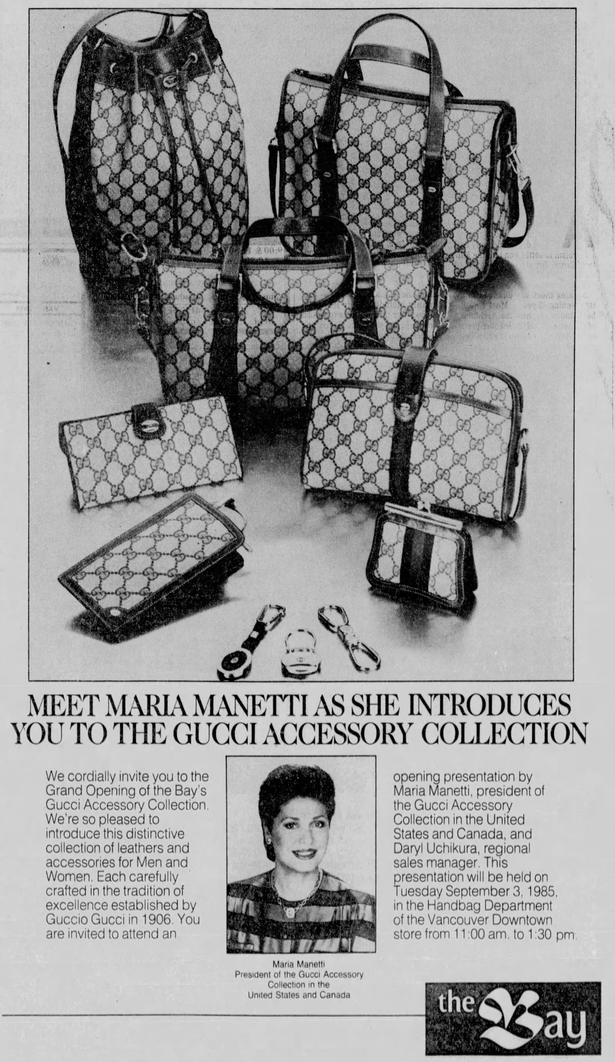Newspaper clipping from the Vancouver Sun dated August 31, 1985. Image via newspapers.com