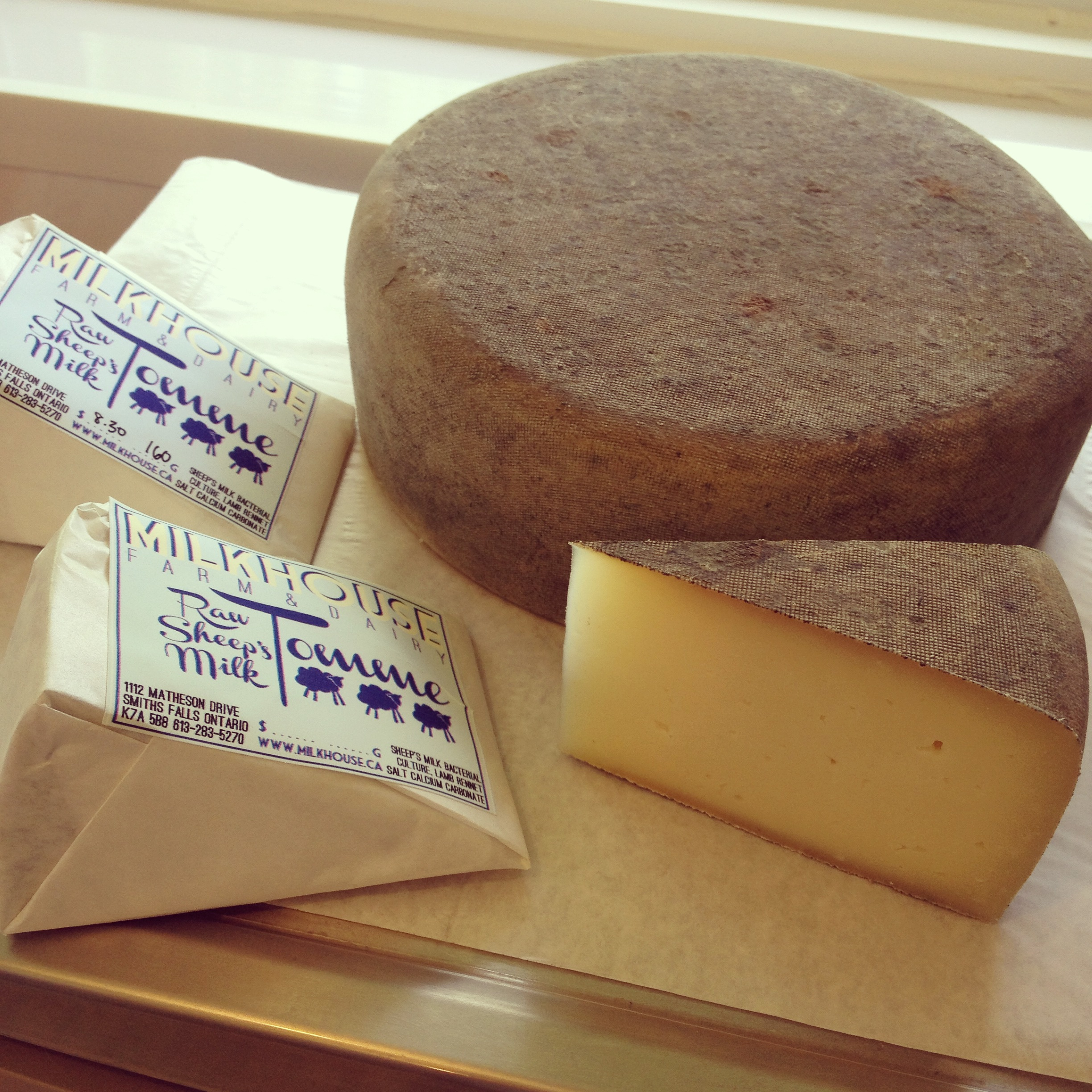 The tomme develops a nice natural rind during the aging process.
