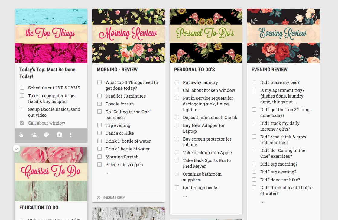 Google Keep To-do List Graphic Packs