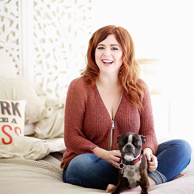 Last year one of my favorite super badass students, brand photographer @heidihapanowicz took this picture to capture my not-so-pinup look.... this is kind of like real life chilling with my pup picasso