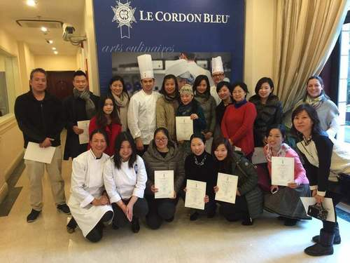 Harvard Club of Shanghai members at Cooking and Dining with Chefs  Le Cordon Bleu event in February 2015