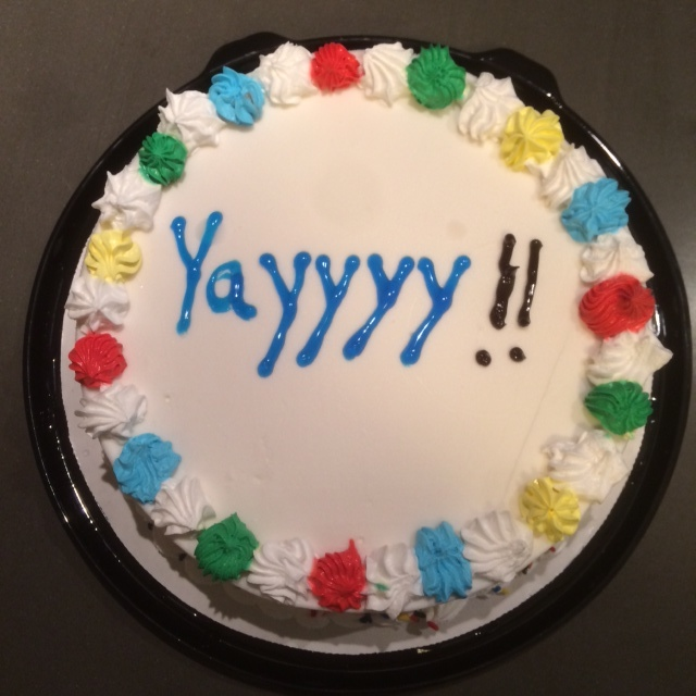 The Dairy Queen cake decorator really phoned it in on the icing application. Thankfully, it didn't affect the taste of the cake!
