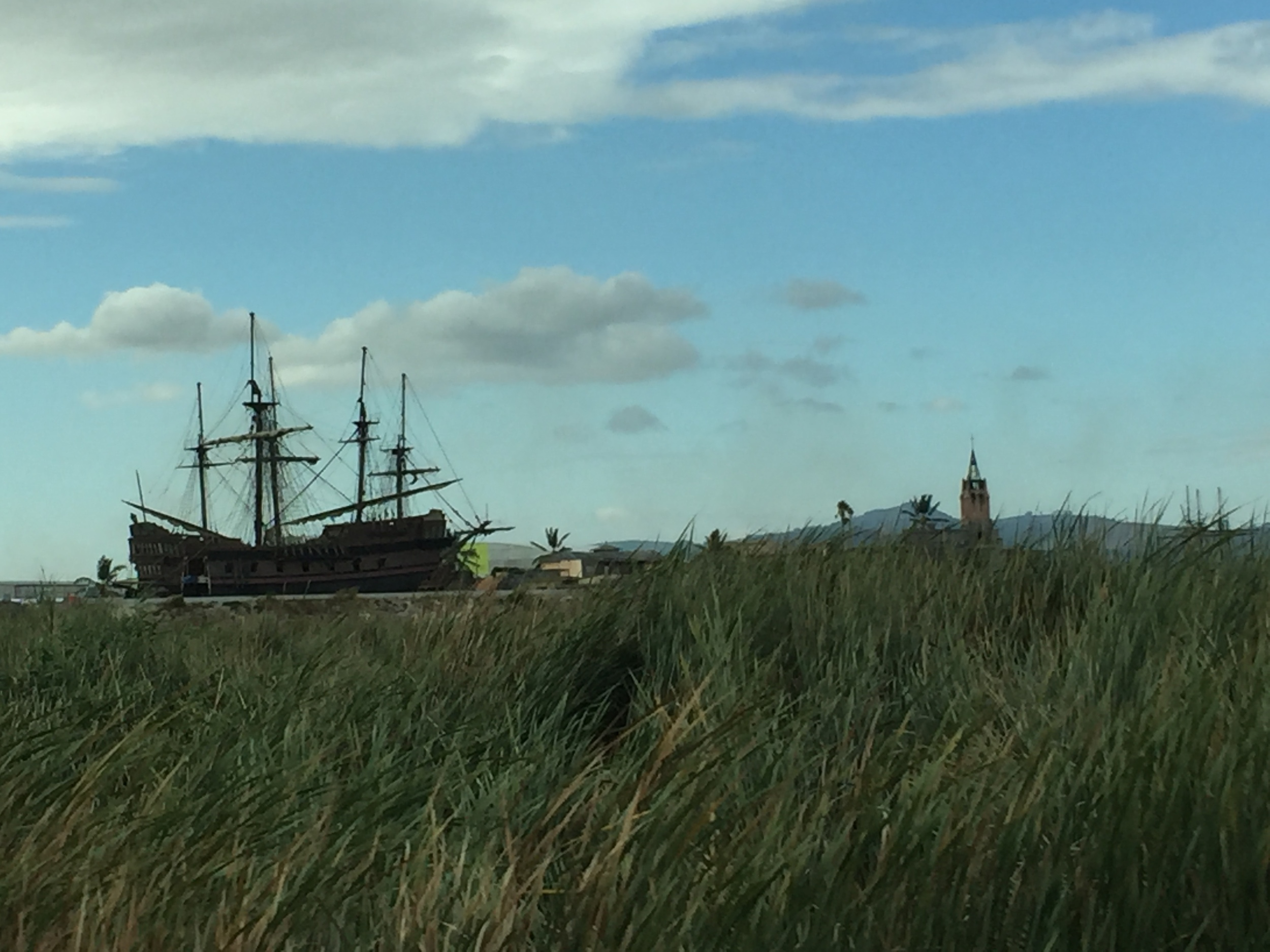 Random pirate ship on the side of the road.