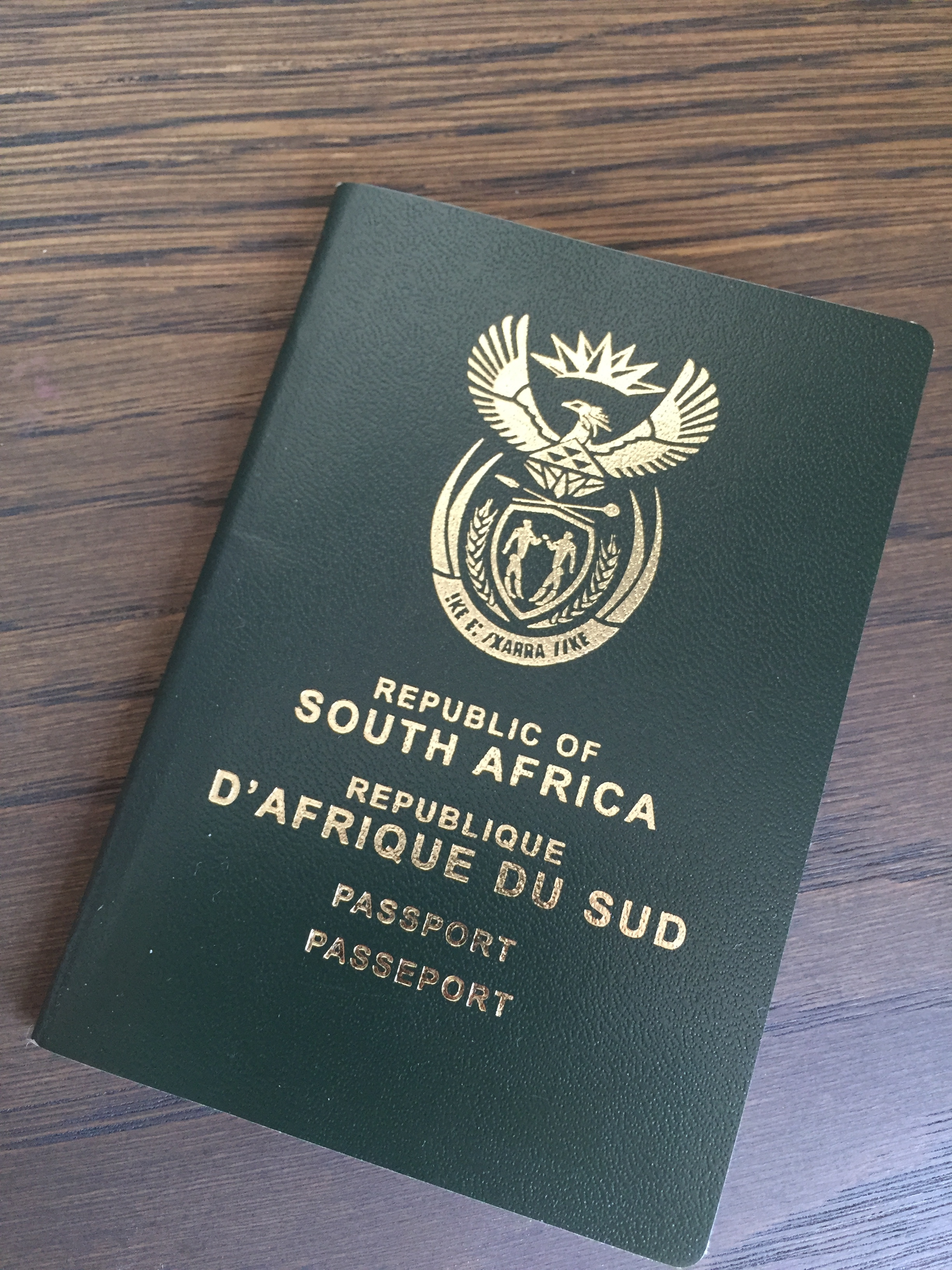 The South African passport cover