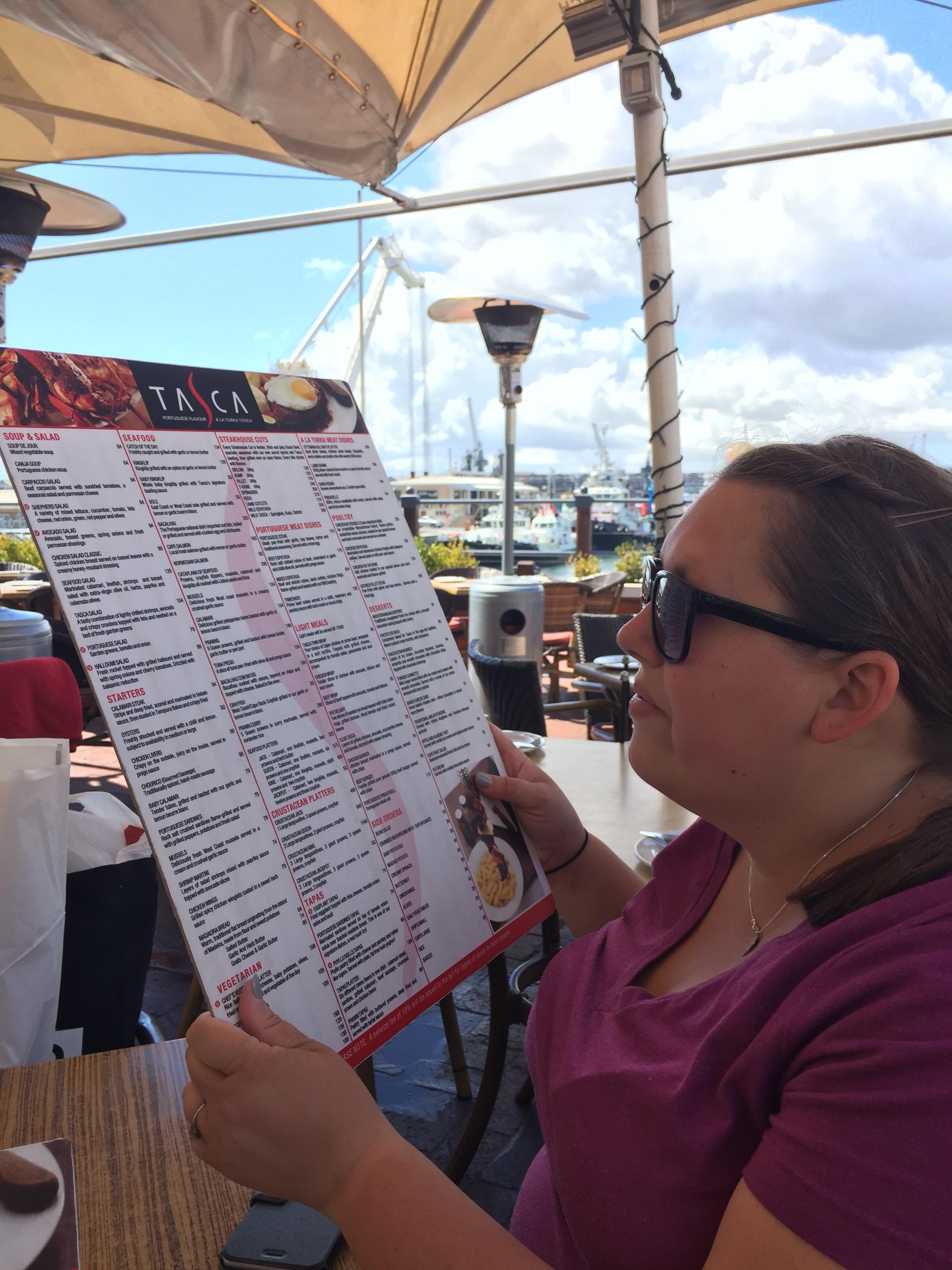 The menu was huge, like 2 feet tall huge.