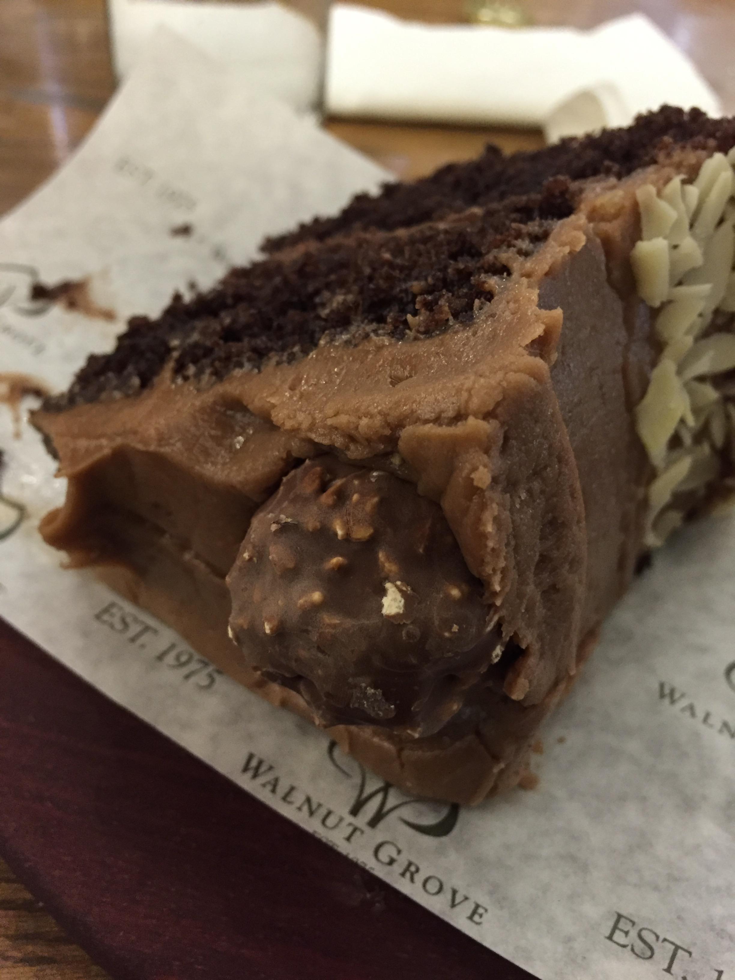 Ferrero Rocher cake—so, so good!