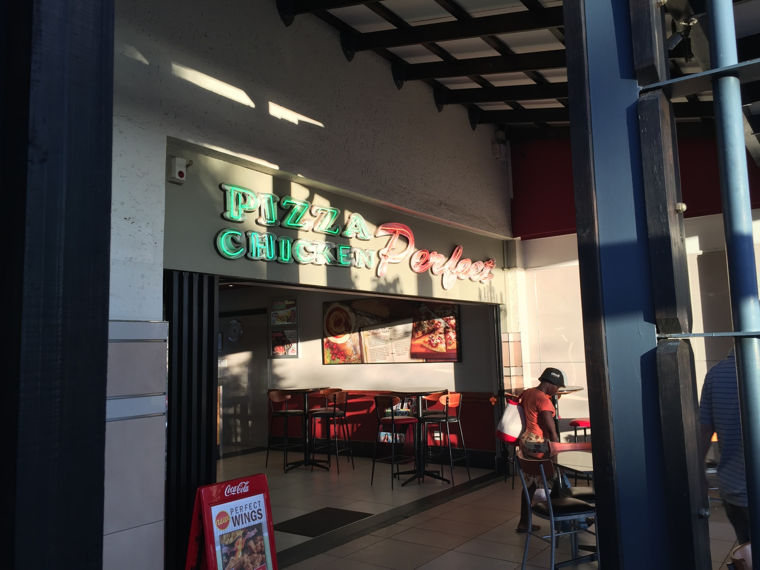 Next to Nando's? A place called Pizza Chicken Perfect. How can you go wrong?!