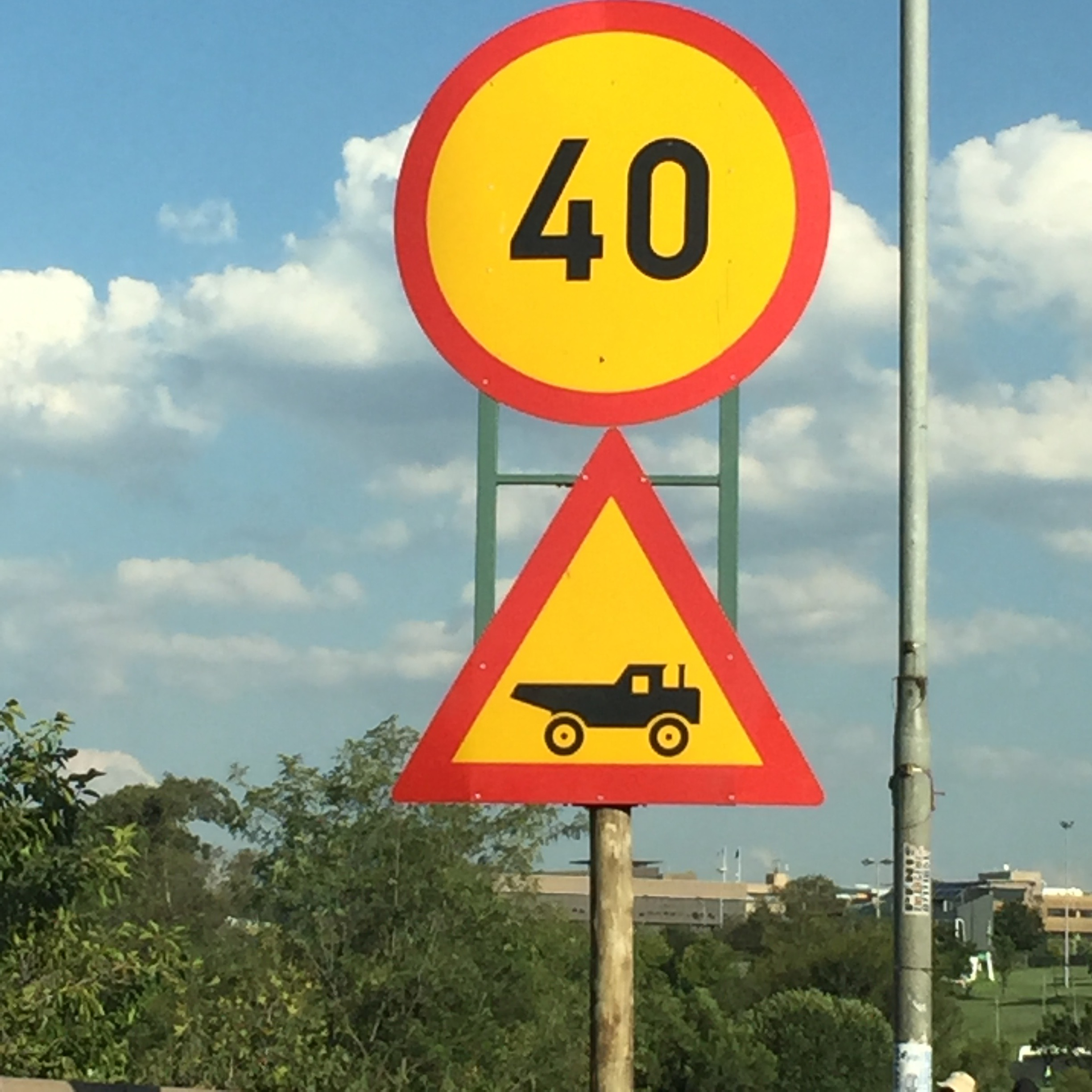 I loved the road signs in South Africa.