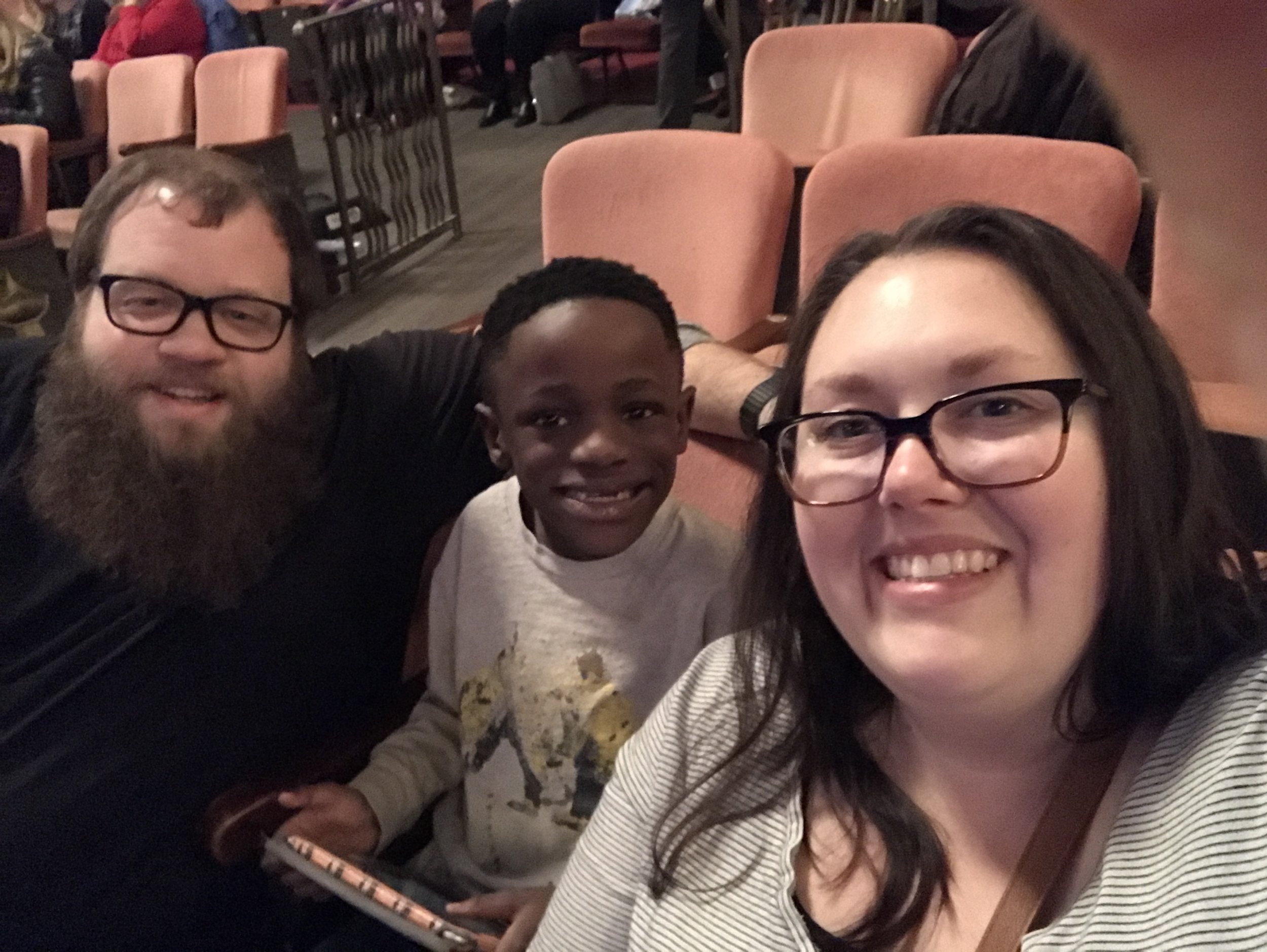 This was actually taken a week before our family anniversary. It was at The Paramount when we went to see the play The Little Mermaid.