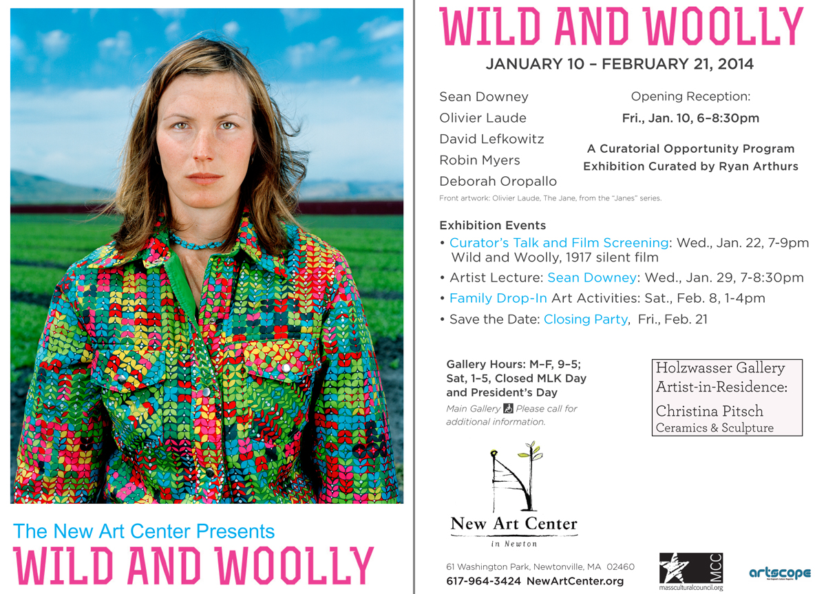 Wild and Woolly exhibition postcard. Coming to a mailbox near you.