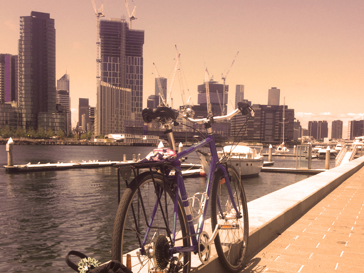 The Dude on tour in Docklands