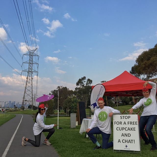 Come and say hi down at the Maribynong bike path for a free cupcake & a chat! @cityofmaribyrnong #bikes #safety #melbourne #bicycle #cupcakes
