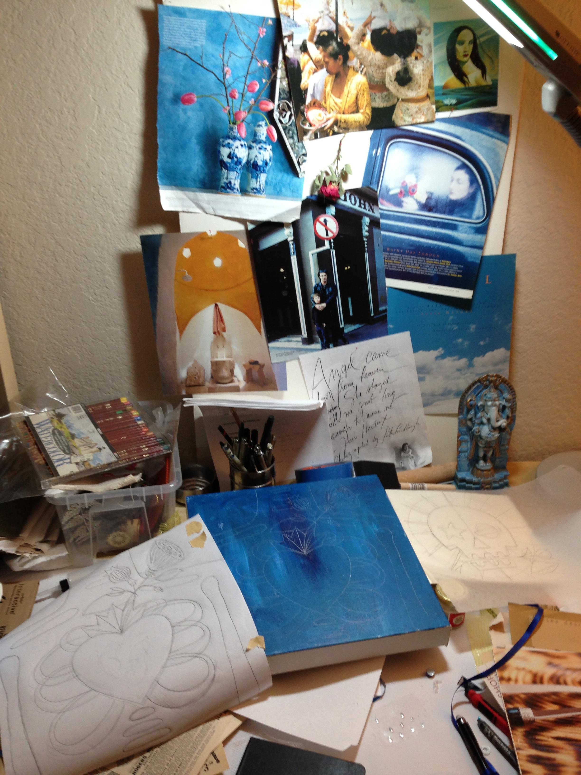 Mood board and drawing