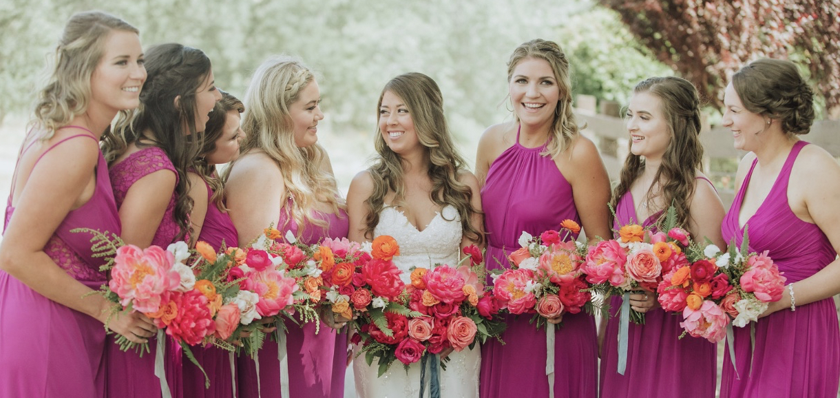 Courtney and bridesmaids at Rancho Victoria Vineyards
