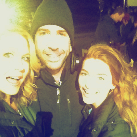 """DEC. 6: Finished filming 1st episode of """"Growing Up Fisher"""" w/ our director, the completely awesome David Schwimmer."""
