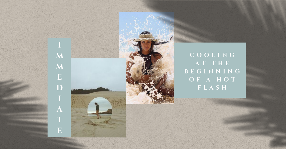 Creating visual content for women dealing with hot flashes